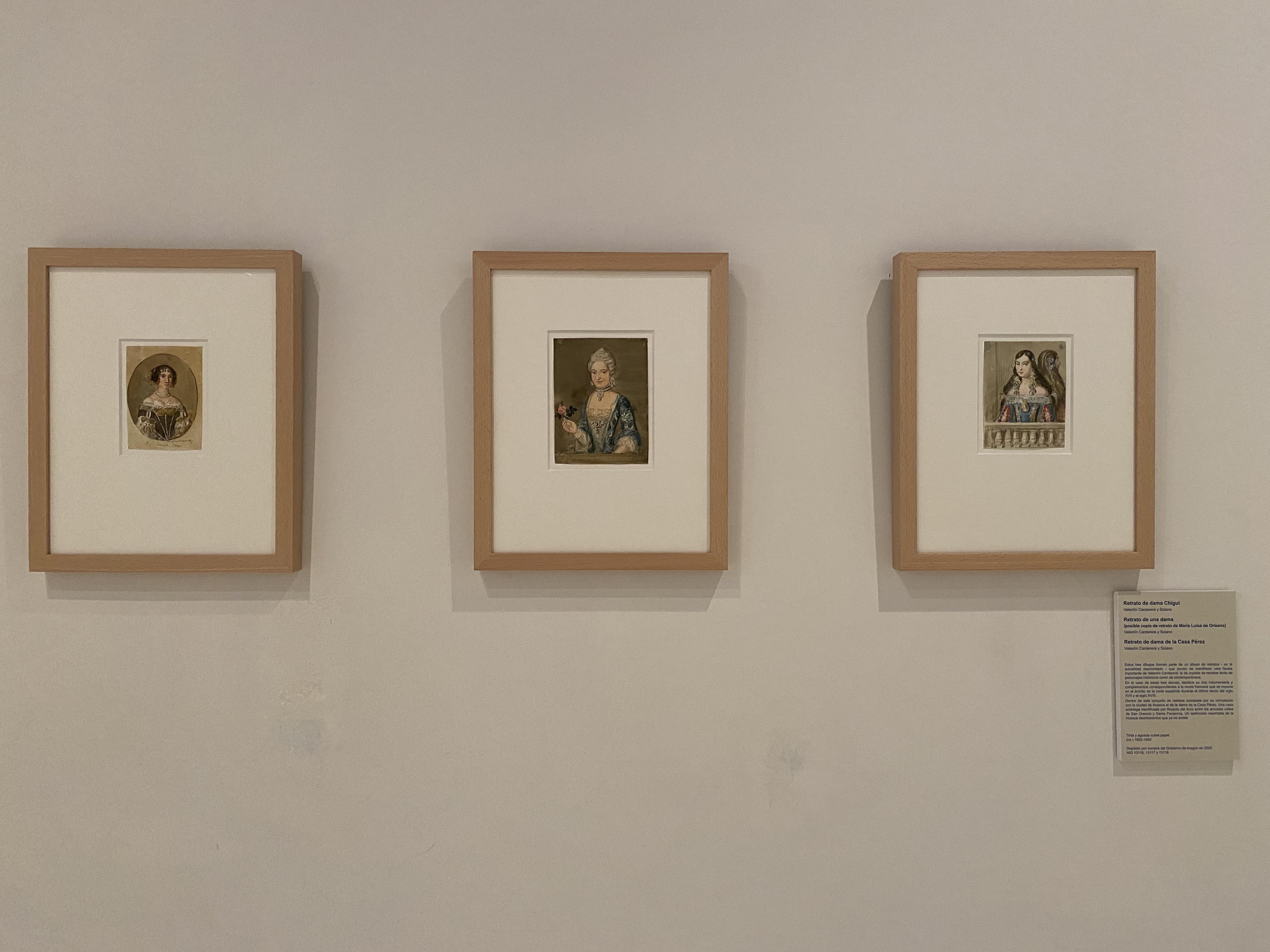 Nuevas obras de Valentín Carderera en la exposición permanente.